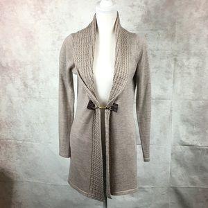 Ellen Tracy tan cardigan sweater